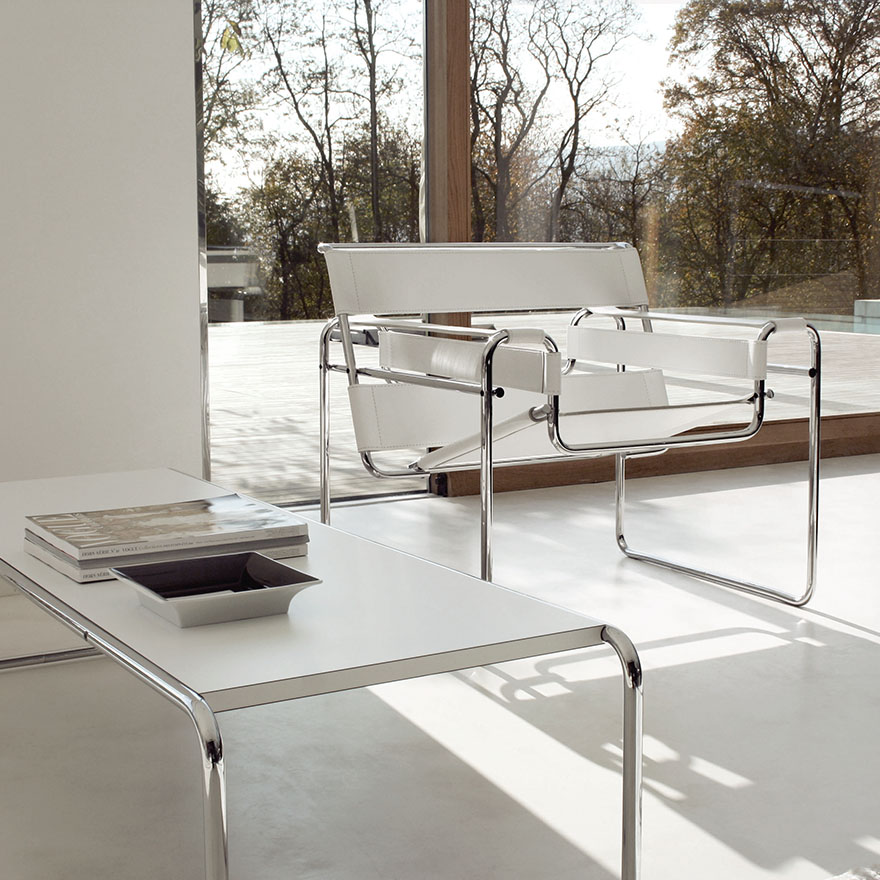 Laccio Couchtisch Knoll Poltrona Wassily By Marcel Breuer - Myareadesign.it