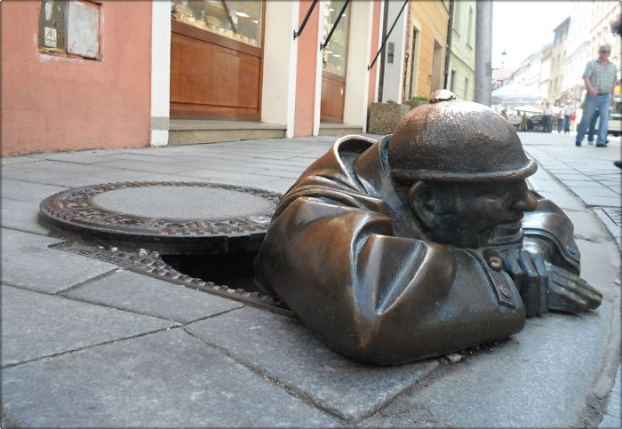 14. Man working, Bratislava, Slovakia