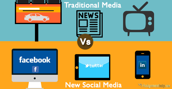 Difference between Traditional Media and New Social Media