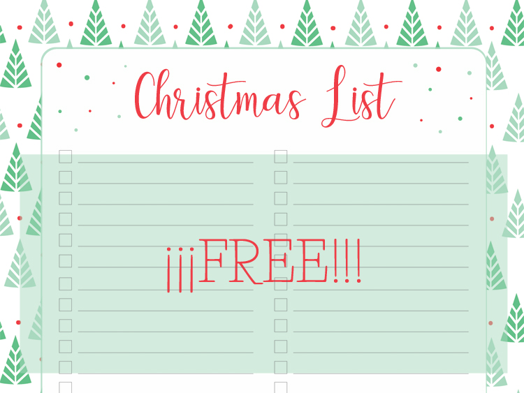 Printable Christmas List Download Free - My Berry Own