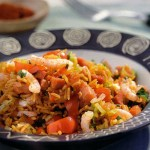 Spicy Shrimps with Ham