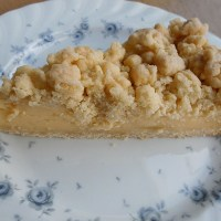 German Streusel Cake with Vanilla Pudding