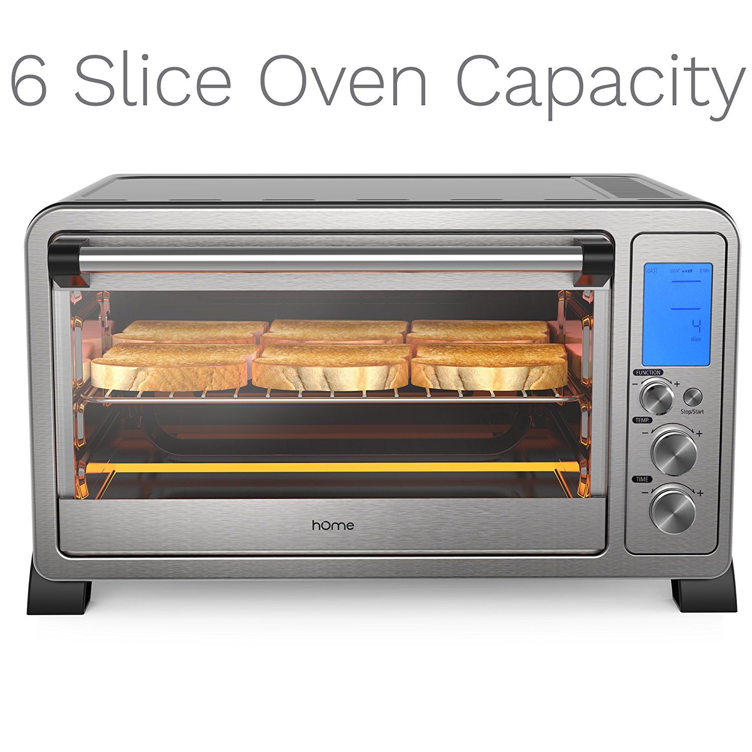 Countertop Roaster Oven Homelabs 6 Slice Convection Toaster Oven Stainless Steel