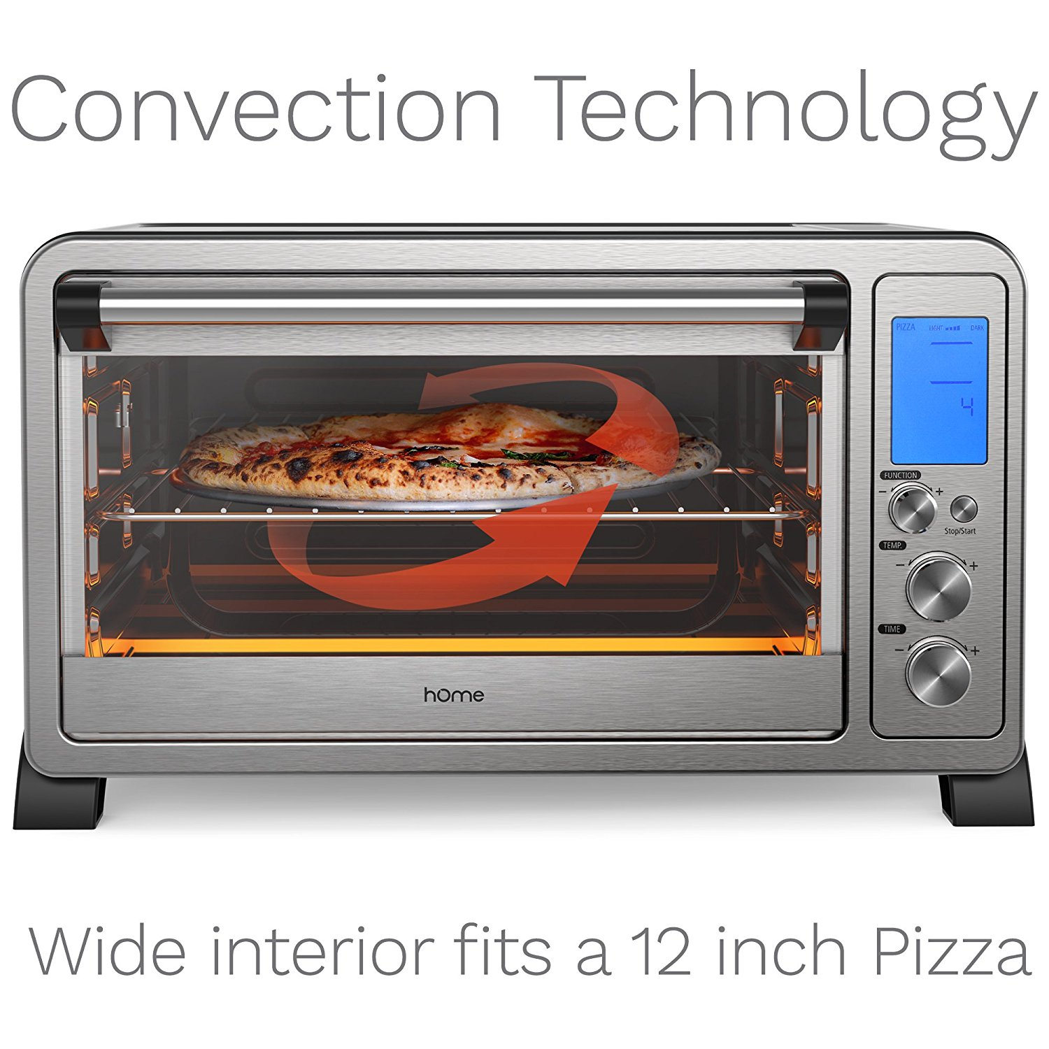 Countertop Pizza Oven Reviews Homelabs 6 Slice Convection Toaster Oven Stainless Steel