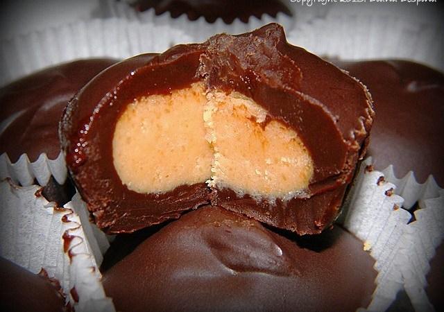 Praline de ciocolata cu unt de arahide