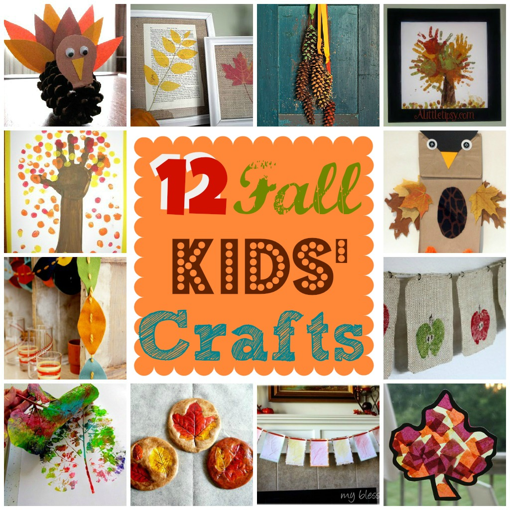 Art Decorating And Crafting 12 Fall Kids Crafts My Blessed Life