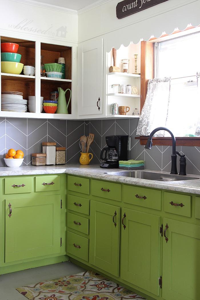 diy herringbone tile kitchen backsplash turned kitchen tile backsplash