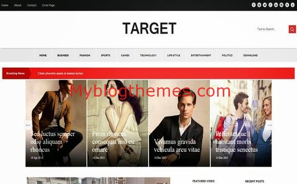 Target Fashion - Myblogthemes - fashion blogger templates