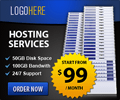 cloud and hosting banner ad design