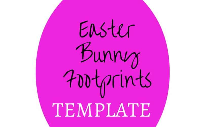 Easter Bunny Footprint Stencil - My Bored Toddler