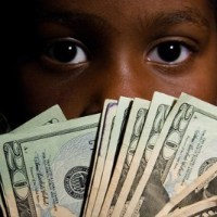 Black Child with Money_MyBrownBaby.com