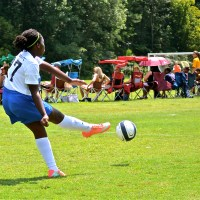 Black Girl Playing Soccer