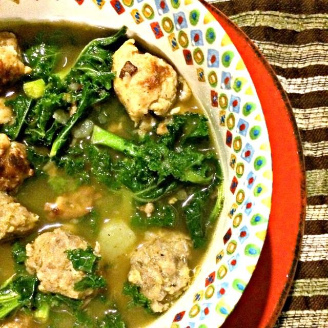 Kale, Sausage and Potato Soup Recipe | MyBrownBaby