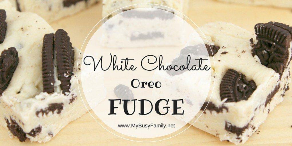 White Chocolate Oreo Fudge