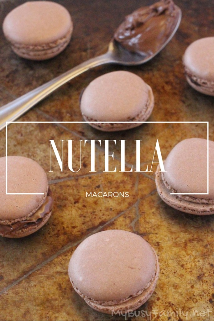 Delicious Nutella Macarons