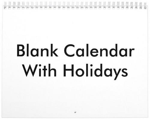Blank Calendar Printable - My Calendar Land - Printable Blank Calendar