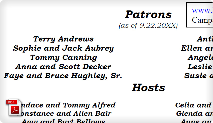 Political Campaign Fundraiser Invite Example II Host Committees