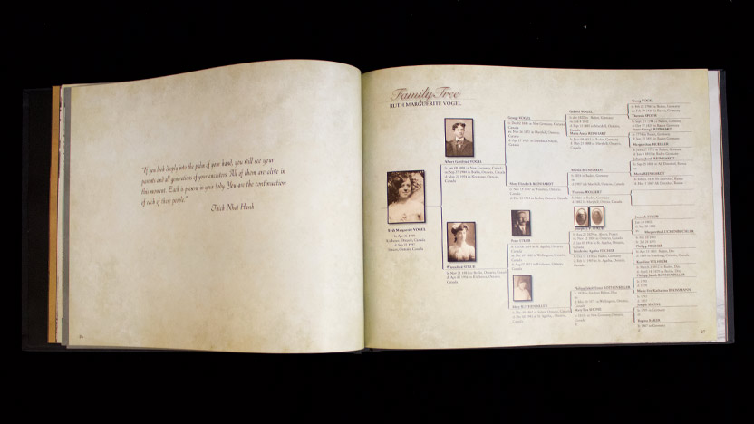 Creating a MyCanvas Family History Book - MyCanvas - how to make a family tree book