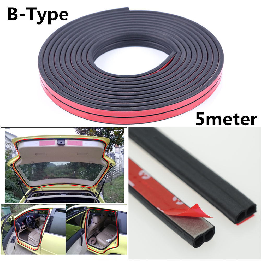 Rubber Seal Strip Great Weatherstrip B Type Car Door Boot Seal Strip Edge Trim 5m 16ft Rubber Seal Tape 2017 2018