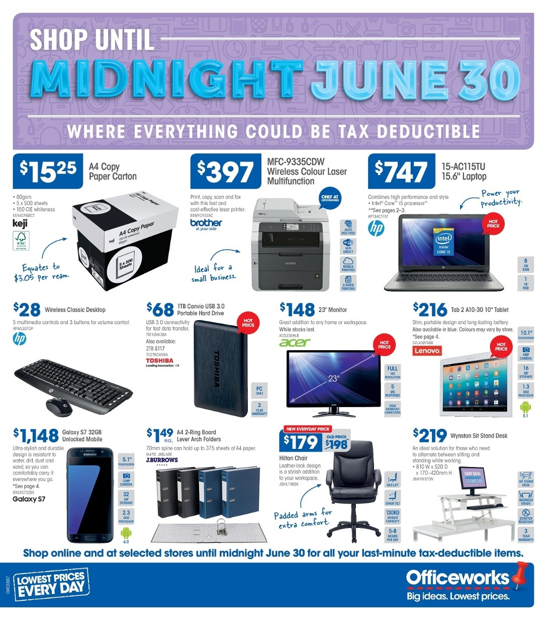 Officeworks Desks For Sale Officeworks Catalogue 23 June 30 June 2016 Shop Until
