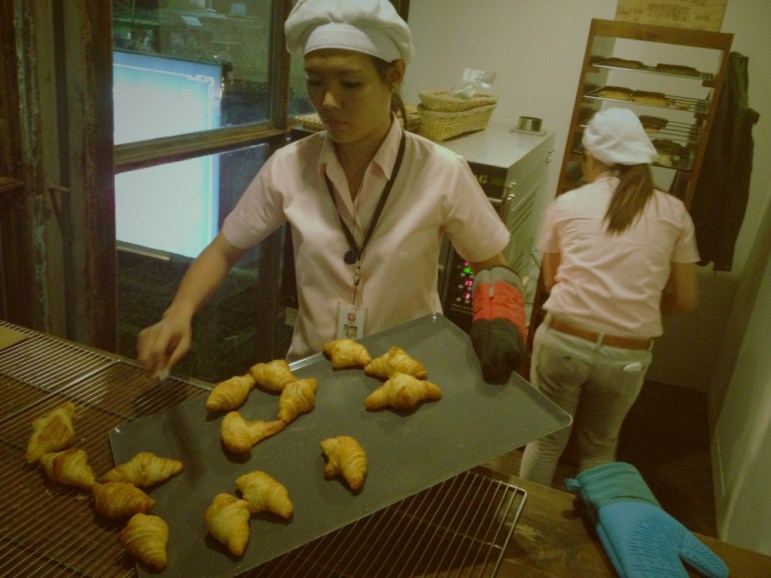 Croissants fresh from the oven at La Vie Parisienne along Gorordo Avenue in Lahug, Cebu City.