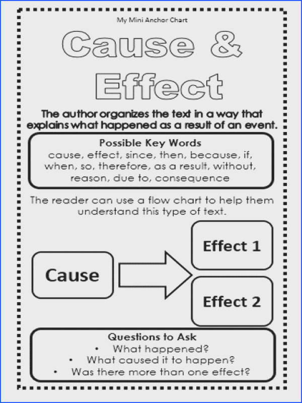 Cause and Effect Worksheets Mychaume
