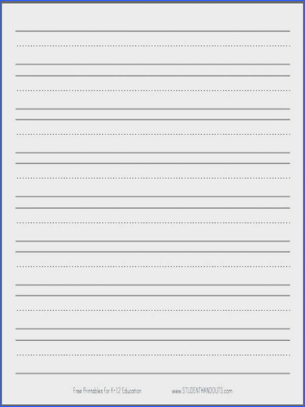 Blank Handwriting Worksheets Mychaume - blank lined writing paper