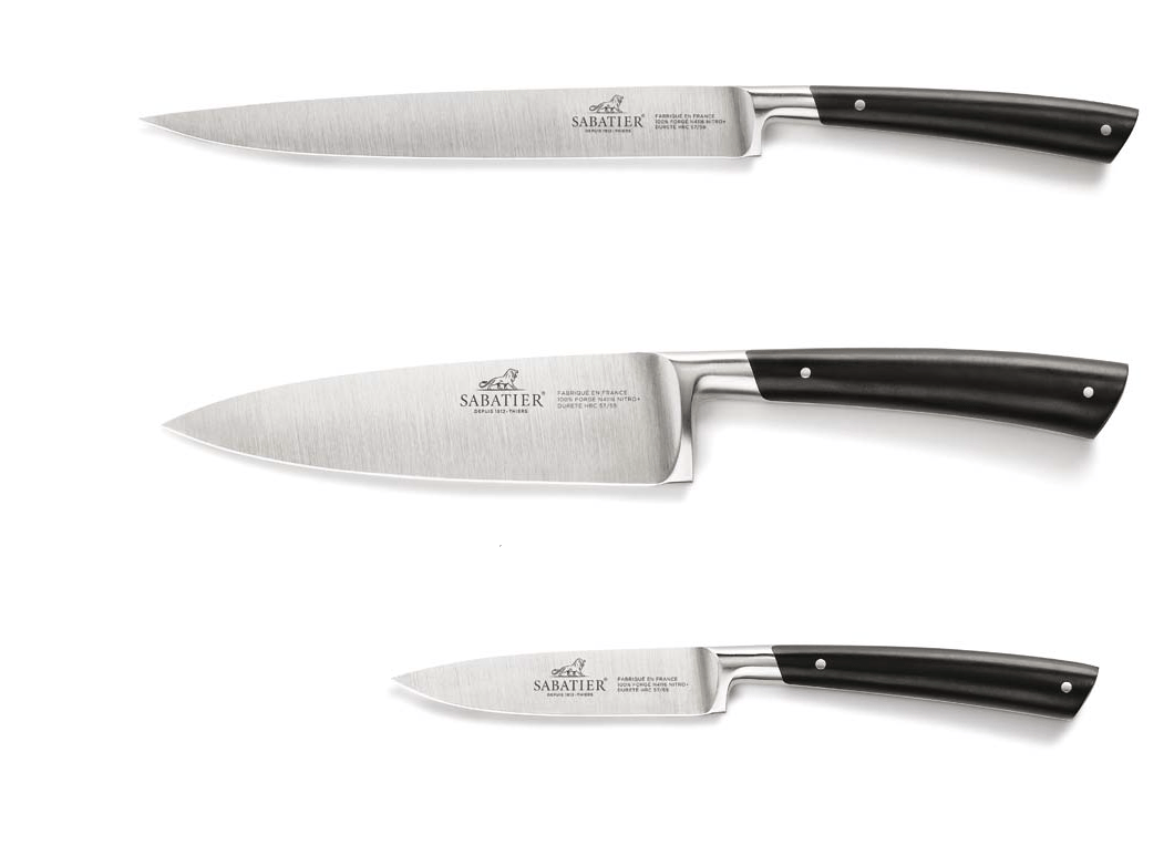 High Quality Cutlery Sets Sabatier Edonist Series 3 Piece Kitchen Knife Set
