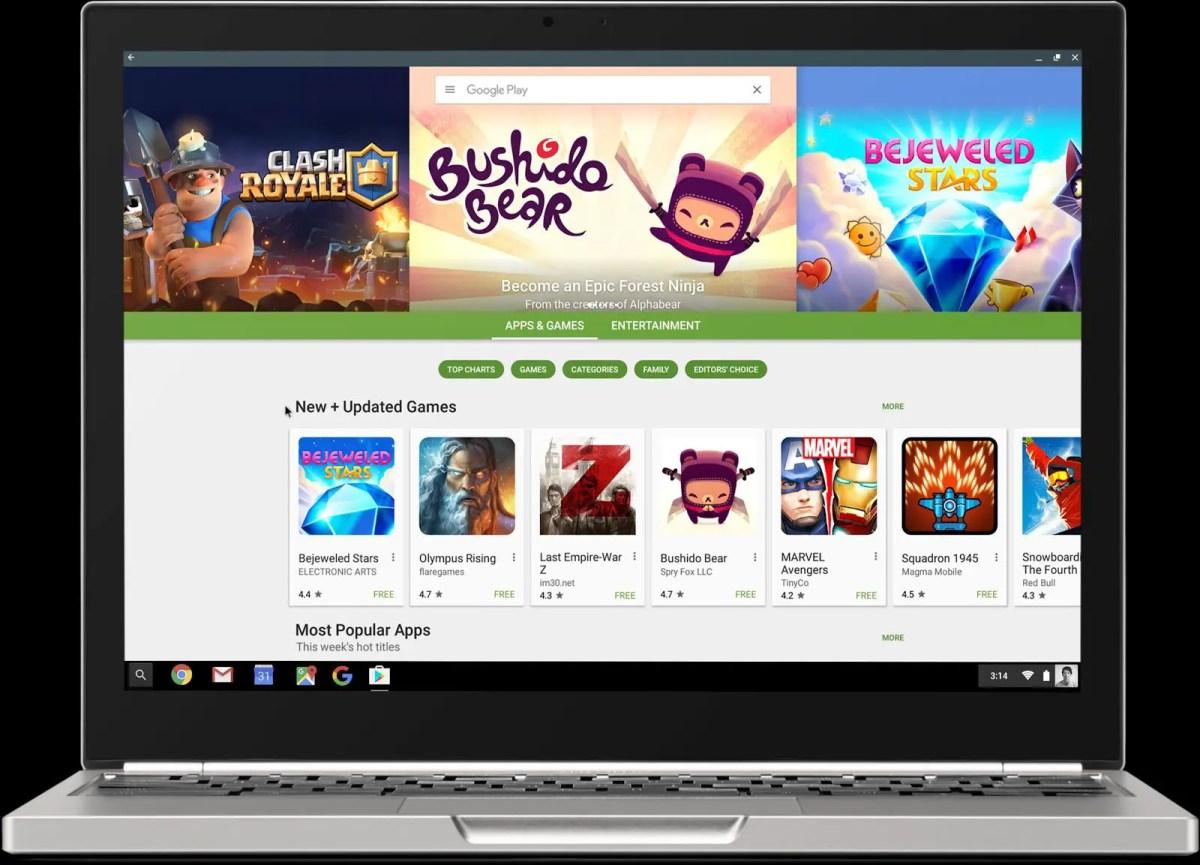 Google Play Store arrive sur le canal stable de Chrome OS
