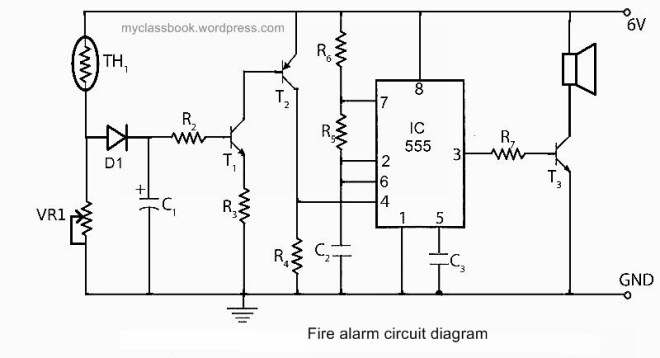 components of fire alarm circuit