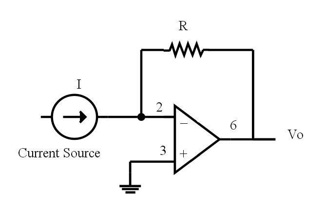 current to voltage converter using op amp myclassbook