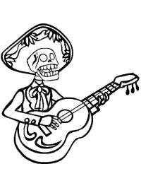 Dia De Los Muertos coloring pages for adults. Free ...