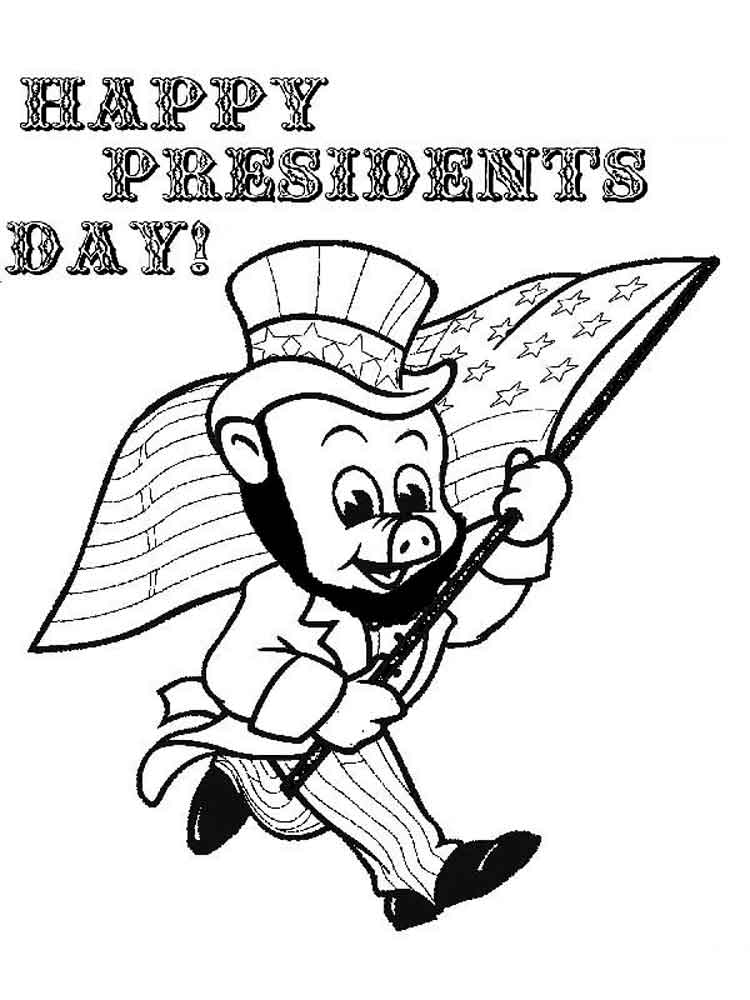 image relating to Printable Pictures of Presidents named √ Totally free Printable Coloring Internet pages For Presidents Working day No cost