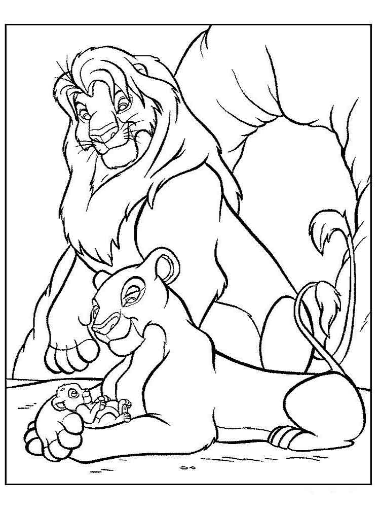 Mufasa On Pride Rock Coloring Page - Auto Electrical Wiring Diagram
