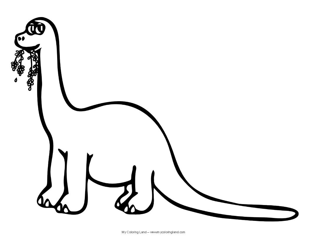 Brontosaurus Coloring Page - Costumepartyrun