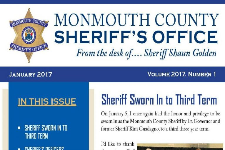 Monmouth County Sheriff\u0027s Office Newsletter January 2017 The Source - office newsletter