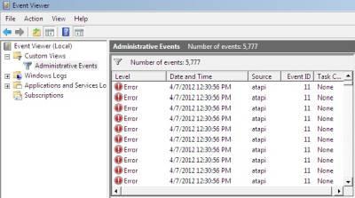 ATAPI 11 Hard drive error Windows
