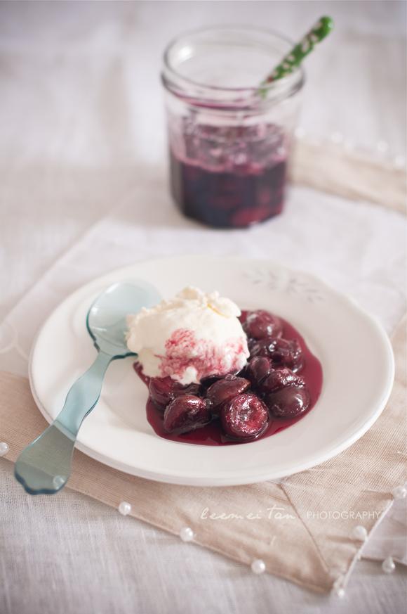 cherry-compote-frozen-yogurt