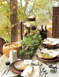 Lovely Tuscan inspired table settings