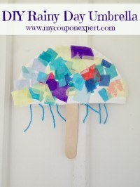 Rainy Day Fun: DIY Paper Plate Umbrella for Kids