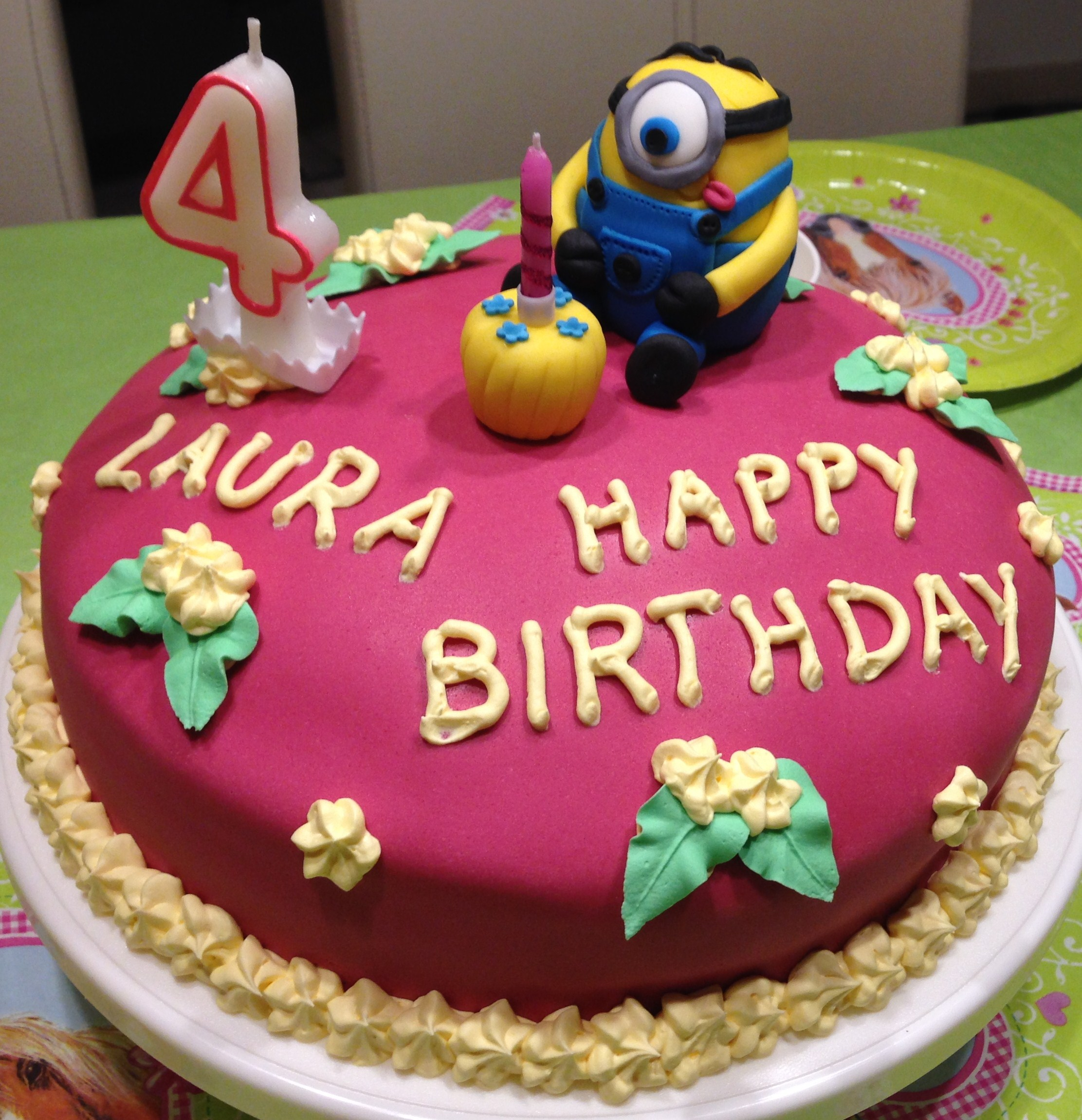 Minion Kuchen Backen Motivtorte Minion Mycrafts