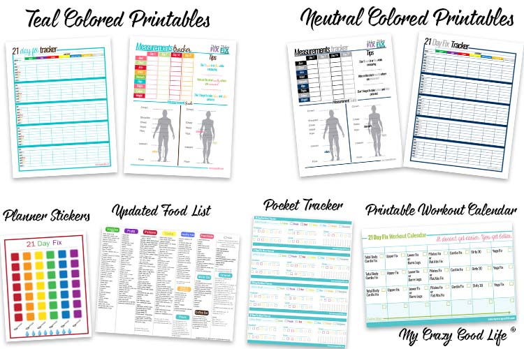 21 Day Fix Printable Pack