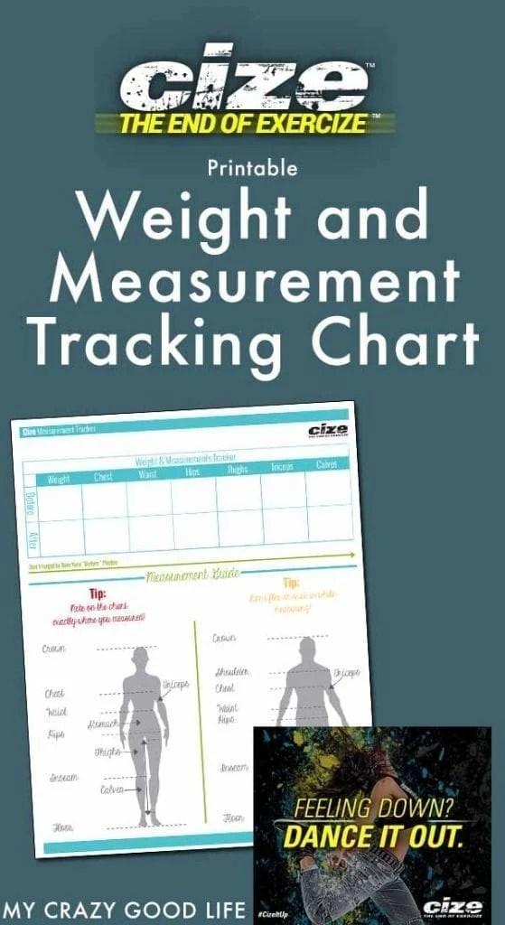 CIZE Weight and Measurement Tracker My Crazy Good Life