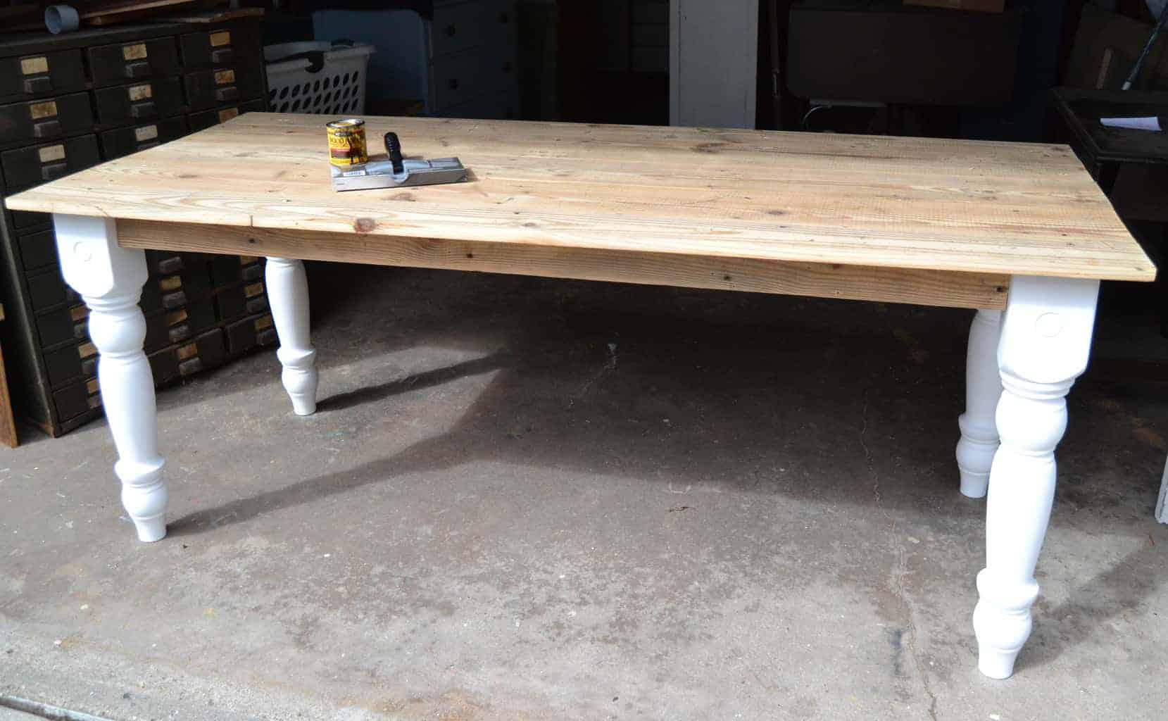 How To Build A Farmhouse Table Youtube Farmhouse Table Diy Made From A Dumpster Find My