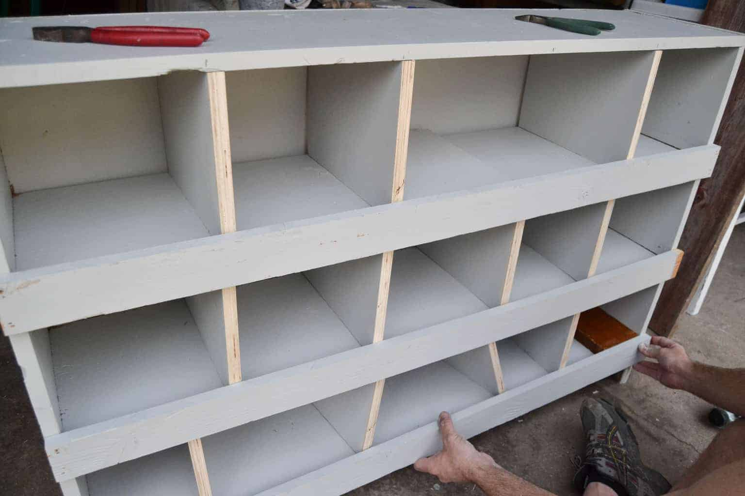 Diy Nesting Boxes Made From A Bookshelf My Creative Days