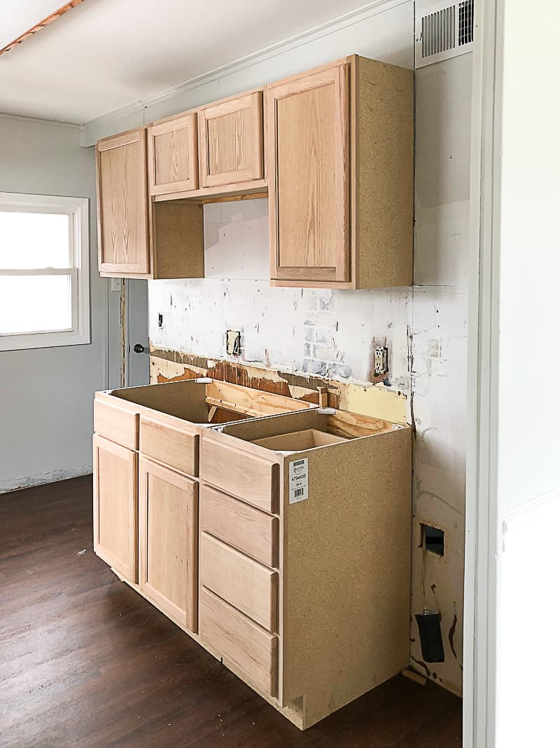 Unfinished Wood Cabinets To Make The Flip House Kitchen Beautiful