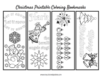 Free Christmas Bookmarks to Color | Cultured Palate