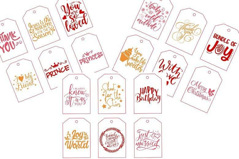All Occasion Printable Gift Tags Cultured Palate