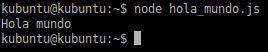 Hola mundo en NodeJS desde fichero