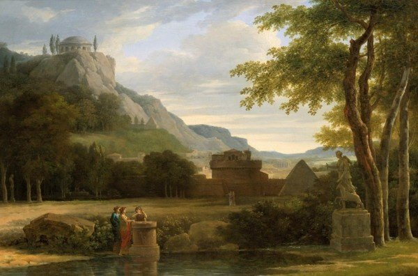 American Paint And Wallpaper Fall River Classical Greek Landscape With Girls Sacrificing Their